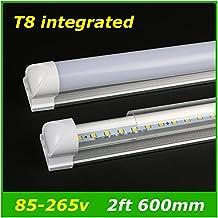 Generic White, Clear Cover 2ft : Integrated 2ft 10W Led T8 Tube SMD2835 48 Leds High Bright light 1000lm 85-265V fluorescent lighting