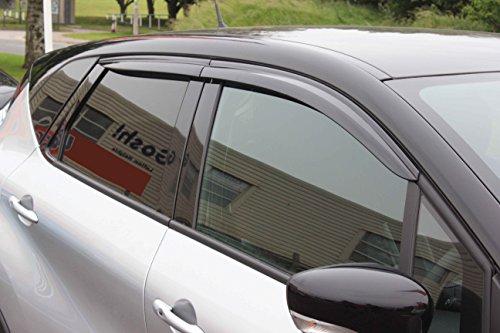 Autoclover Renault Captur Déflecteurs d'air Lot de 4Pièces (Fumé)