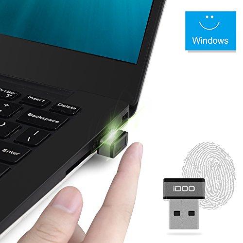 iDOO® (FIDO Certifié) Clé de Sécurité Lecteur Empreinte Mini USB pour Windows 10 Home/Pro