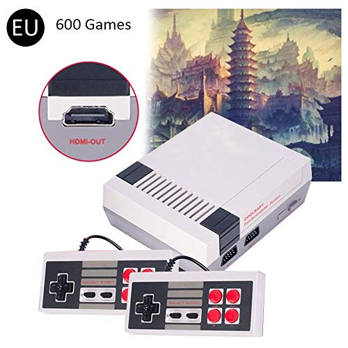 Grandnessry Mini-Spielekonsole, Retro-Konsole, HD-Video-Ausgang, 4 K HDMI, 600/621 Spiele, 600 Games