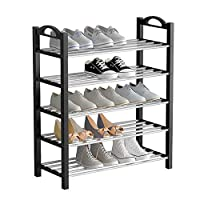 UDEAR Shoe Organizer 5-Tier for 15 Pairs Free Standing Shoes Rack Space Saving Tower Shelf Storage Medium