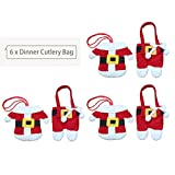 Vvciic 6PCS / SET belle decorazioni di Natale a casa Tabella Argenteria Bag Holder