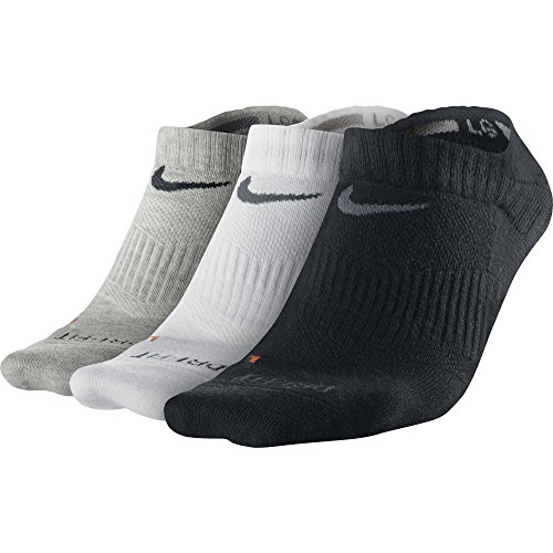 Nike Herren Socken Dri Fit Lightweight 3er Pack, SX4846-001, grau (grey heather/flint grey), Gr. M (Sock Zwei No Pack Show)