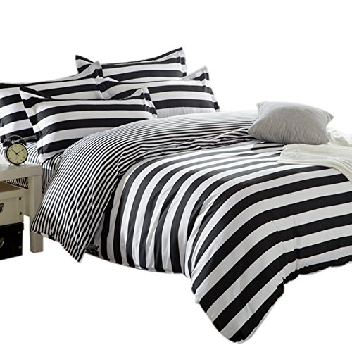 zebra-black-and-white-stripe-reversible-double-duvet-covers-quilt-covers-bedding-sets