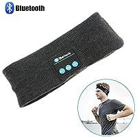Cuffia Bluetooth Sport senza fili, Cuffia stereo bluetooth stereo Topoint senza fili Cuffia sportiva Fascia da corsa in esecuzione Yoga fascia grigio scuro