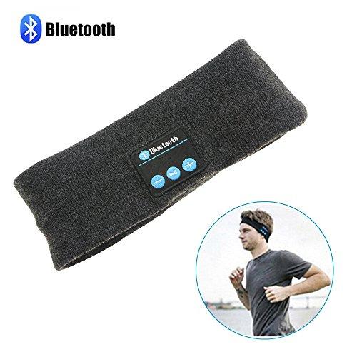 Wireless Sports Bluetooth Headband, Topoint Wireless bluetooth Stereo Sleep Headphones Headset Sport Headband Running Yoga Headband Dark Grey Test