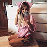 Festiday Womens Plus Size 34 Sleeve Tops And Blouses Clearance Sale 2018 New Casual Womens Tops Tees Womens Cat Long Sleeve Hoodie Sweatshirt Hooded Pullover Tops Blouse