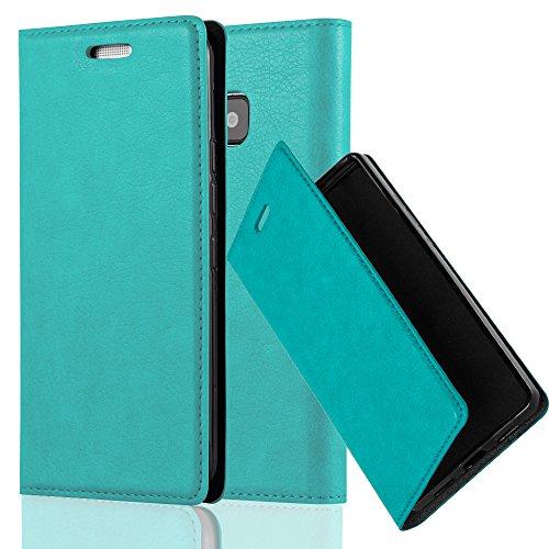 Cadorabo Hülle für HTC ONE M9 (3.Gen.) - Hülle in Petrol TÜRKIS – Handyhülle mit Magnetverschluss, Standfunktion und Kartenfach - Case Cover Schutzhülle Etui Tasche Book Klapp Style