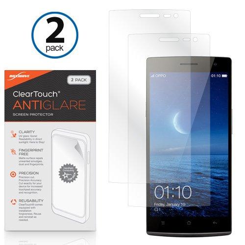 Oppo Find 7Bildschirmschutzfolie, BoxWave® [ClearTouch AntiGlare (2er Pack)] Anti-Fingerprint Matt Folie Schutzfolie für Oppo Find 7