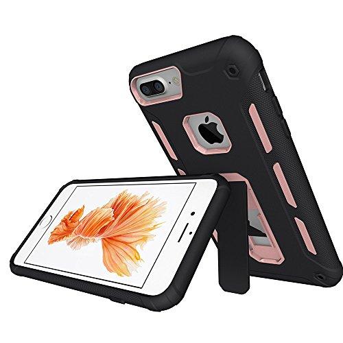 """Coque iPhone 6 Plus, MSK® Coque iPhone 6S Plus Protection Case [Tough Armor] Housse Etui Coque Pour Apple iPhone 6 Plus/6S Plus (5.5"""") Smartphone Protection - Noir Or Rose"""