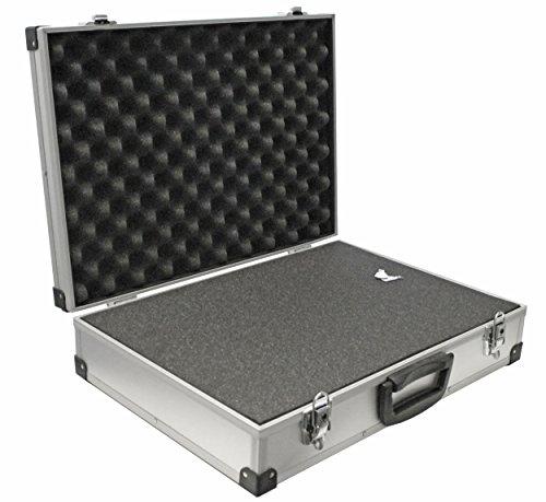 PeakTech 7265 - Universal Koffer für Messgeräte, Robuster Tragekoffer, Werkzeug Aufbewahrung, Würfelschaum Platten, Schaumstoff Polsterung, abschließbar, Staubschutz, XL - 390 x 280 x 100 mm