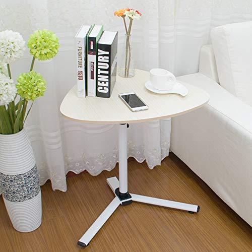 Bodenstehender Höhenverstellbarer Mobiler Laptop-Tisch Nachttisch Lazy Computer Bed Side Table Einfache und Moderne Optionale Farbe, Weißer Ahorn -
