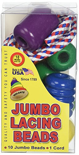 Pepperbell Flechten hz1016Jumbo Schnürung Perlen Classic Made in USA Holz Spielzeug, 9,1cm Höhe, 3,2cm Breite, 5,1cm Länge (Pack von 10)