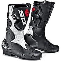 Sidi Fusion Lei Botas para Motocicleta, Negro/Blanco, 38