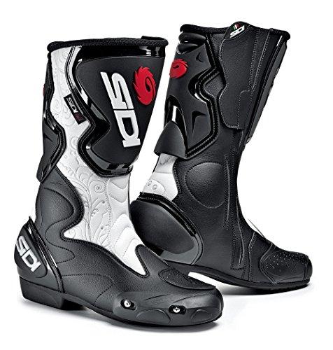 Sidi Fusion Lei Motorradstiefel, Schwarz-Weiß, Größe: 42