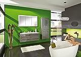 PURIS Brillant 3 tlg. Badmöbel Set/Waschtisch / Unterschrank/Einbauspiegelschrank inkl. LED-Rahm