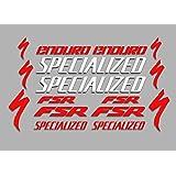 Red Ecoshirt RL-0O4H-11NZ Stickers Sram F173 Vinyl Adesivi Decal Sticker Sticker Sticker MTB Bike Stickers