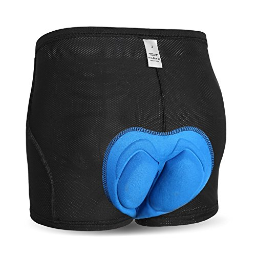 INBIKE Shorts Cyclisme Vélo Sous Short VTT Sous-Vêtement Homme Sport Pantalon de Cycliste,Noir(M)