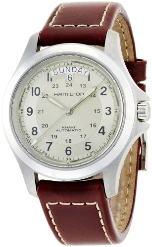 Hamilton Herren Analog Automatik Uhr mit Leder Armband H64455523