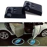 Atk 2x inalámbrico no taladro tipo Led láser puerta sombra luz Bienvenido Proyector Luz LED para puerta de coche Logo Ford fantasma sombra...