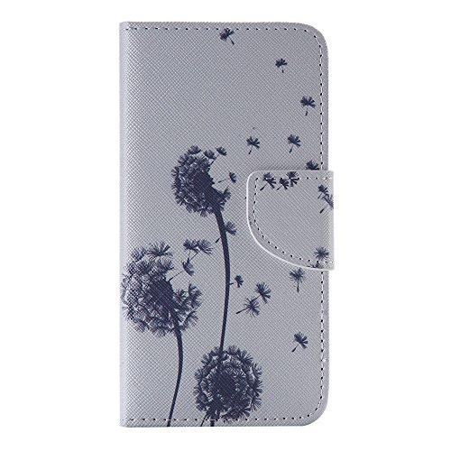Nancen Samsung Galaxy S5 / SM-G900F (5,1 Zoll) Handy Lederhülle, Flip Case Wallet Cover with Stand Function, Folio Bookstyle Handytasche Soft Silikon Bunte Muster Tasche PU Leder Slim Shell Handyhülle.
