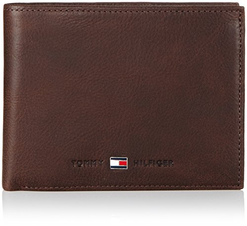 tommy-hilfiger-johnson-cc-flap-and-coin-pocket-portefeuille-homme-marron-brown-204-13x10x2-cm-b-x-h-