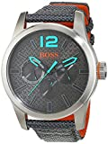Hugo Boss Orange Paris Herren-Armbanduhr Quartz Analog mit blauem Textil Armband  1513379