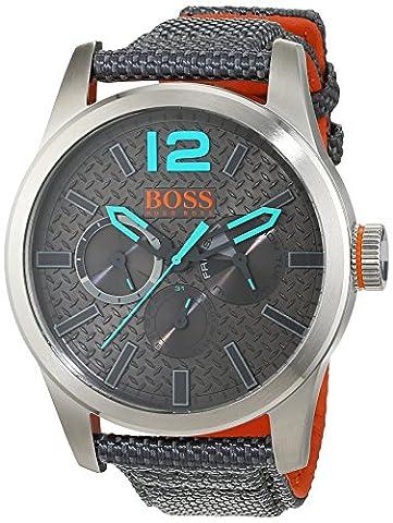 Hugo Boss Orange Paris Men's Quartz multi dial Grey Nylon