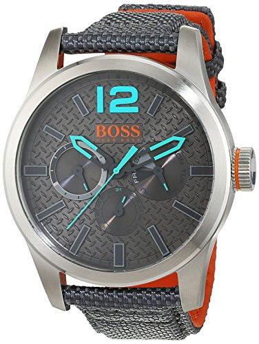 Hugo Boss Orange 1513379 - Reloj de pulsera analógico para hombre (correa de nailon, esfera con subdiales)