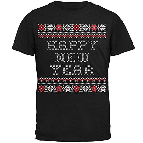 Frohes neues Jahr hässlich Christmas Sweater Erwachsenen T-Shirt schwarz Black