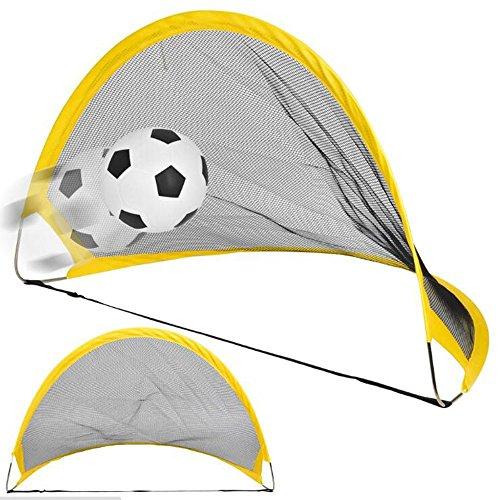 Georgie Porgy Kids Foldable Polyester Football Door and Two Soccer Gates Sport Equipment Idea Gift  75cm