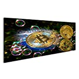 islandburner Bild Bilder auf Leinwand Bitcoin und Ein Seifenblasenkonzept Wandbild, Poster, Leinwandbild JQY
