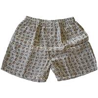 (L) Boxers Boxer Shorts ropa interior hombres elefante Boxershort chico Mujer Chica Blanco