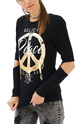 trueprodigy Casual Mujer Marca Camiseta Estampado Ropa Retro...