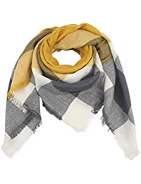 nativo Echarpe Femme Hiver laine Chaud Grand Carreaux Plaid Glands Foulard  XXL e574410a30c