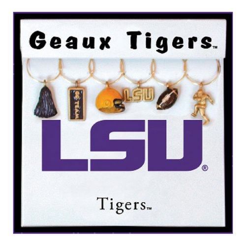 Wein Dinge Louisiana State University bemalt Glaswaren Charms