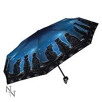 Nemesis Now Lisa Parker Wish Upon A Star Cat Umbrella Blue 24cm x 5cm