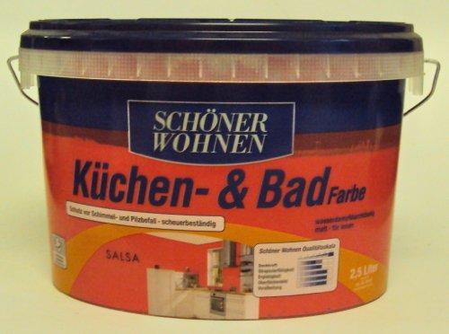 2,5 L Schöner Wohnen Küchen- u. Badfarbe, Salsa Matt