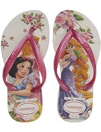 1da5536e32e78 Havaianas Kids Slim Princess Flip Flop (Toddler Little Kid Big Kid) White