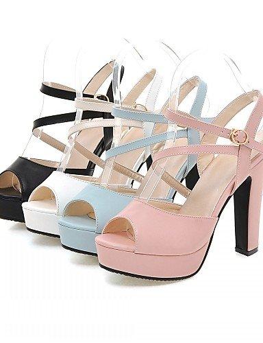 UWSZZ IL Sandali eleganti comfort Scarpe Donna-Sandali-Matrimonio / Ufficio e lavoro / Serata e festa-Spuntate-A stiletto-Finta pelle-Nero / Blu / Rosa / Bianco Pink
