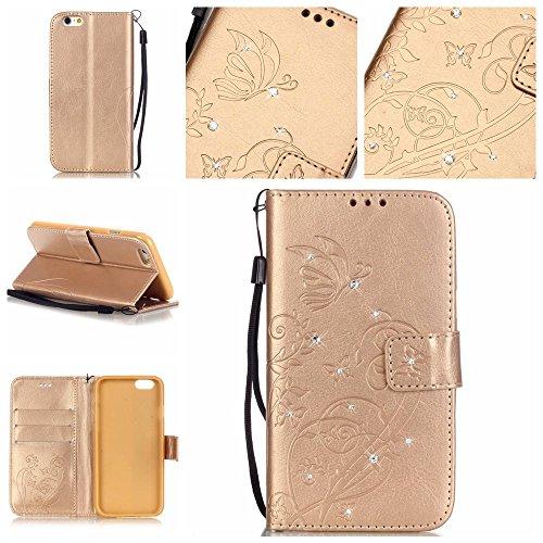 Preisvergleich Produktbild Bling Glitter Diamond Pattern Wallet Stand Function for iPhone SE / 5S / 5