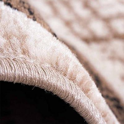 Designer Rug Living Room Rug Retro Pattern in Brown Beige Unbeatable Deal - inexpensive UK light store.