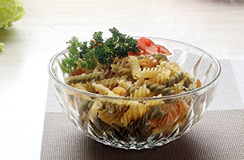 Schale aus Klarglas of Fruit Salatschüssel Dessert Schalen von Gemüse Schüssel 7 inch