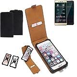 K-S-Trade Flipstyle Hülle für Allview P7 Pro Handyhülle Schutzhülle Tasche Handytasche Case Schutz Hülle + integrierter Bumper Kameraschutz, schwarz (1x)