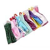 AchidistviQ 10PCS/Lotto Colori Misti Stili Giocattolo Abiti Tutu Abiti da Principessa per Bambola Baby Houses Multi