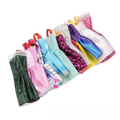 AchidistviQ Prinzessinnenkleider für Puppenhäuser,, 10 Stück -
