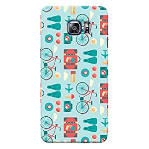 ColourCrust Samsung Galaxy S6 Edge Plus Mobile Phone Back Cover With Holidays Pattern Style - Durable Matte Finish Hard Plastic Slim Case