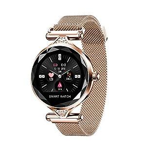 ANLD Damenmode Smart Watch, Health Monitoring, Tape/Farb-Display/IP67 wasserdicht/Fitness-Tracker weibliches Armband physiologische Periode Erinnerung