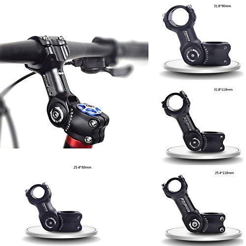 Fahrräder Vorbauten Verstellbarer Vorbau Ahead MTB Mountainbikes Rennräder Radsport Fahrradteile Aluminiumlegierung von Sue Supply, Schwarz -