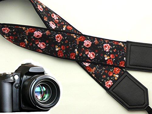 agurt. Roses Kamera Gurt. Schwarz DSLR Kamera Strap. Vintage Botanical Kameragurt. Kamera Zubehör. Langlebig, leichtes und gut gepolstert Kamera Strap. Code 00007 (Wählen Sie Ihr Gift-halloween-party)